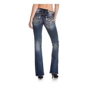 Rock Revival Paula Jeans Distressed Size 28 x 34